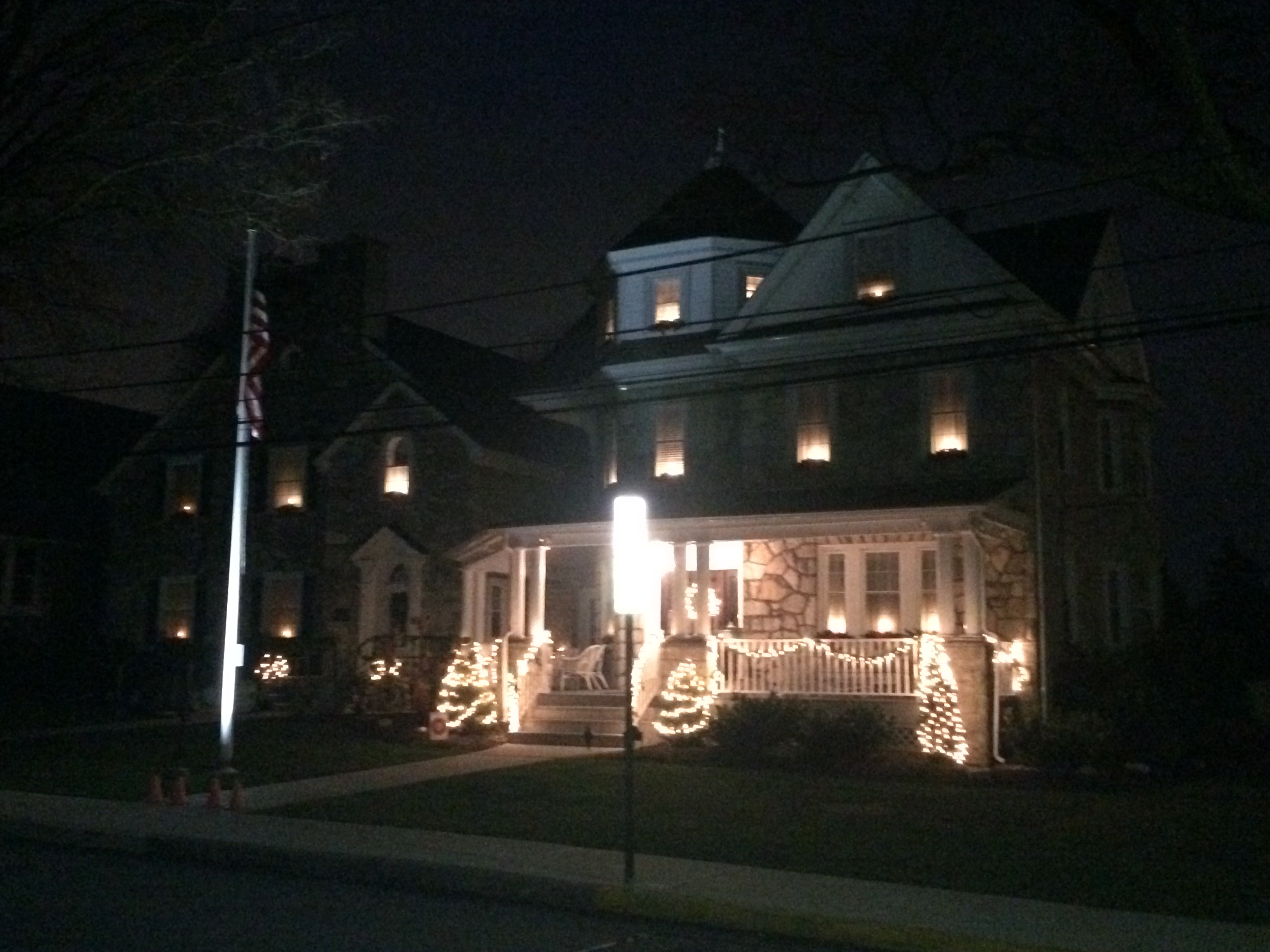 brighter homes lighting. A Photo Of The Mauger-Givnish Funeral Home Located In Malvern, PA All Lit Up With Beautiful Christmas Lights And Decorations. Brighter Homes Lighting