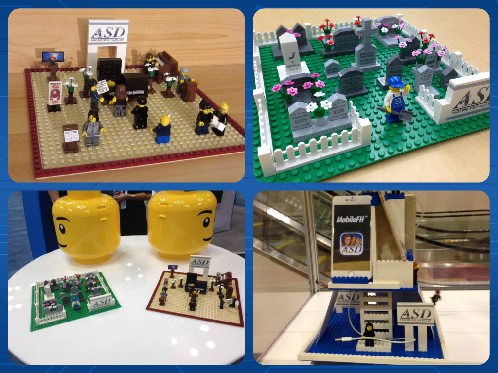 2015 Nfda Convention Recap Electronics Learning Circuits Hall Of Toys Lego Minfig Heads As Our Raffle Card Containers And Toy Sets For Children Attending The Show Even Mobilefh Display Was Created Using Legos