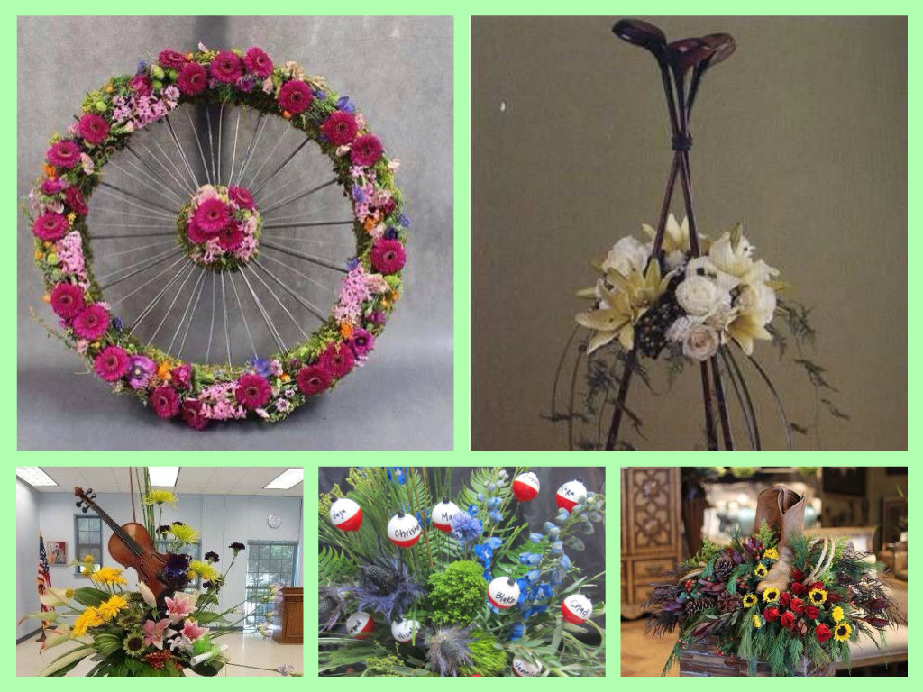 8 ways to personalize a funeral a golfers floral spray shared via owens funeral home jeffersonton 3 a flower izmirmasajfo Choice Image